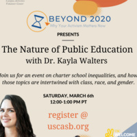 ASB Speaker Series- The Nature of Public Education with Dr. Kayla Walkers