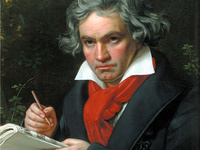 Portrait of Ludwig van Beethoven by Joseph Karl Stieler