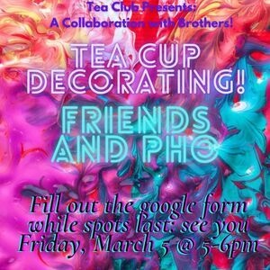 Tea Club x Brothers: Food and Painting Tea Cups
