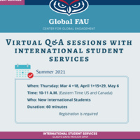 Virtual Q&A Sessions for Newly Admitted International Students