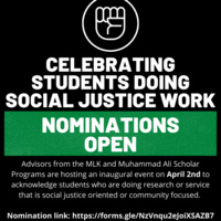 Celebrating Students Doing Social Justice Work