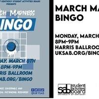 SAB Presents: March Madness Bingo
