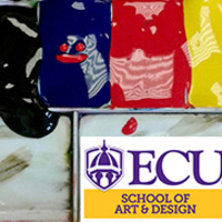 Paint Palette with ECU School of Art and Design logo