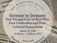 Germany to Germany: New Perspectives on Post-War, Post-Unification and Post-Colonial Reparations