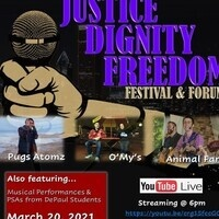 Justice, Dignity and Freedom Festival/Forum Flyer