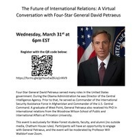 The Future of International Relations: A Conversation with Four Star General David Petraeus