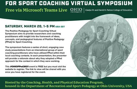 Applied Positive Pedagogy for Sport Coaching Virtual Symposium