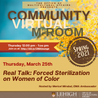 Community M-Room: Forced Sterilization on Women of Color | Multicultural Affairs