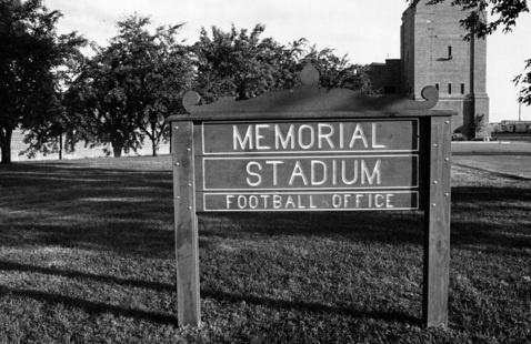 Memorial Stadium in 1983