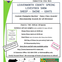 Leavenworth County Spring Livestock Show - Sheep . . . Swine . . . Goats