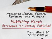 Publishing Panel: Journal Editors, Reviewers, and Authors