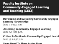 Faculty Institute on Community-Engaged Learning and Teaching: Developing and Sustaining Community-Engaged Learning Partnerships