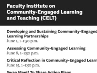 Faculty Institute on Community-Engaged Learning and Teaching: Assessing Community-Engaged Learning