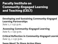 Faculty Institute on Community-Engaged Learning and Teaching: Swap Meet! To Share Action Plans