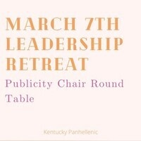 Publicity Chair Round Table