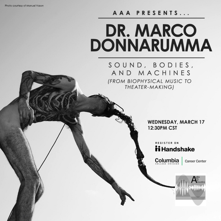 AAA Presents... Dr. Marco Donnarumma: Sound, bodies, and machines: From biophysical music to theater-making