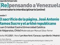 """Venezuela Series #1: Juan Cristóbal Castro, """"El sacrificio de la página. José Antonio Ramos Sucre y el arkhé republicano"""""""