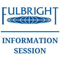 """Fulbright logo with text reading """"information session"""""""