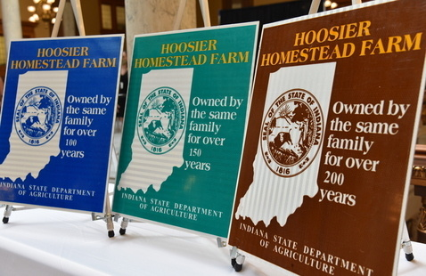 Longstanding farm families presented  Hoosier Homestead Awards