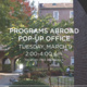 Programs Abroad Pop-Up Office