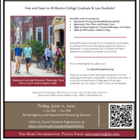 Virtual Graduate & Law Student Housing Fair 2021