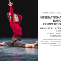 Woman in dance performance, details about International Dance Competition 2021