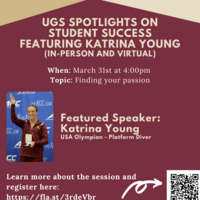 UGS Spotlights on Student Success Series feat. Katrina Young