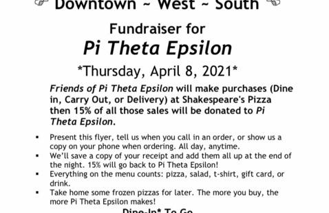 Shakespeare's profit share with Pi Theta Epsilon