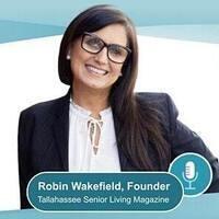Portrait of Robin Wakefield, founder of Tallahassee Senior Living Magazine