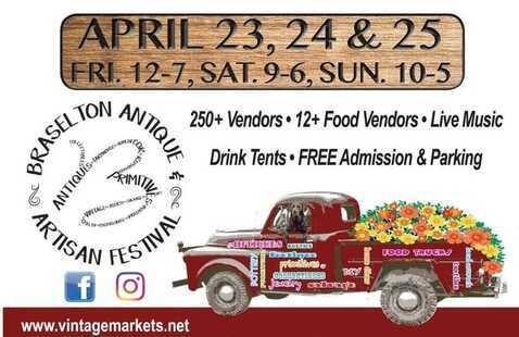 antique festival flyer