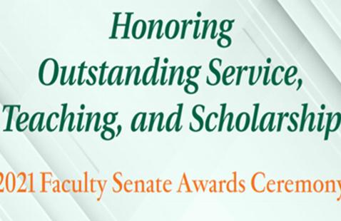 Faculty Senate Awards 2021 Ceremony