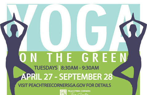yoga on the green flyer