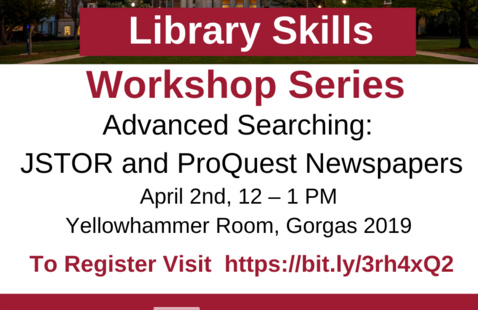 Advanced Searching: JSTOR and ProQuest Newspapers