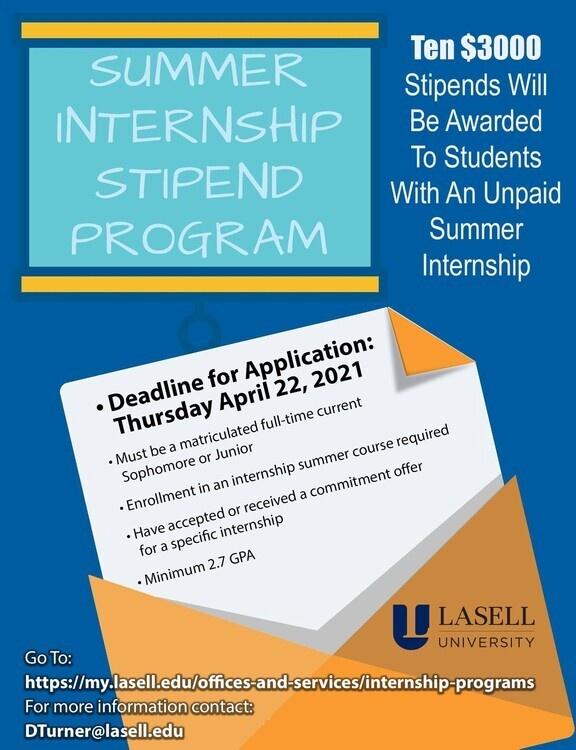 Summer Internship Stipend Program