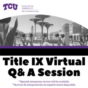 Title IX Q & A Session
