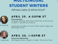 Workshop | Multilingual Writers, Support, and Labor: Practice and Vision