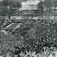 Henry Burroughs. Rally Near the White House.1965. Associated Press wire photo. Gift of George and Alexandra Stephanopoulos.