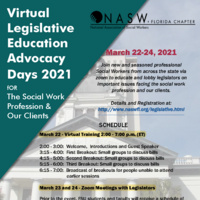 Virtual Legislation, Education and Advocacy Days 2021 Flyer
