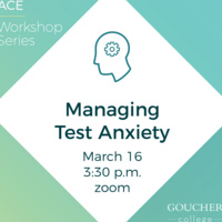 """ACE Workshop Series: """"Managing Test Anxiety"""""""