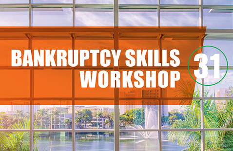 VIRTUAL - 31st Annual Bankruptcy Skills Workshop - June 02 & June 04, 2021