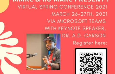 Flyer for MMRC & KU MARC Virtual Spring Conference