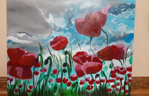 painting of poppy flowers