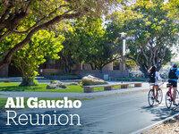 AGR Banner, Students Riding Bikes