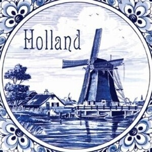 Dutch Tile Painting with Baltimore Sister Cities