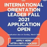 International Orientation Leader - Fall 2021 - Application Open!