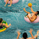Inner-Tube Water Polo in the Tootell Pool
