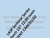 Cancellation of March 15th Seminar Talk 12 noon 2021
