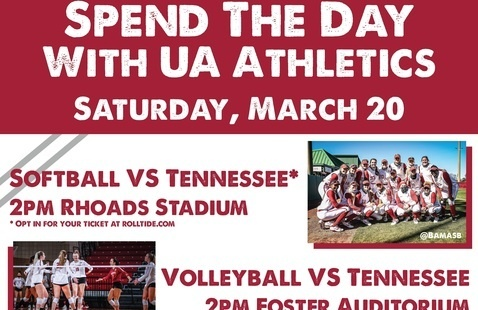 Spend The Day with UA Athletics