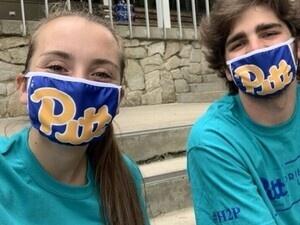 Jayme Ertter and Drew Hurd with masks