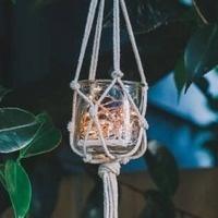 Adult Crafting Take & Make: DIY Macrame Light Holders